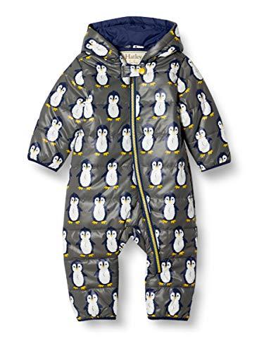 Hatley Baby-Jungen Winter Bundlers Schneeanzug, Dapper Pinguin, 6-9 Monate