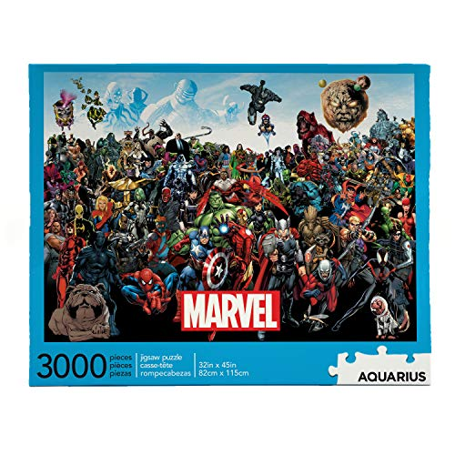 AQUARIUS Marvel Puzzle Cast (3000 Piece Jigsaw Puzzle) - Officially Licensed Marvel Merchandise & Collectibles - Glare Free - Precision Fit - Virtually No Puzzle Dust - 32x45in
