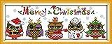 Kit punto Croce Nuove versioni Kit di Ricamo Fai da te Fatto a Mano Cucito Kit da cucito Regali di Natale Cross Stitch Kits Needlework DIY Embroidery Kit (11CT, 1)
