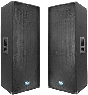 Seismic Audio - Pair of Dual 15
