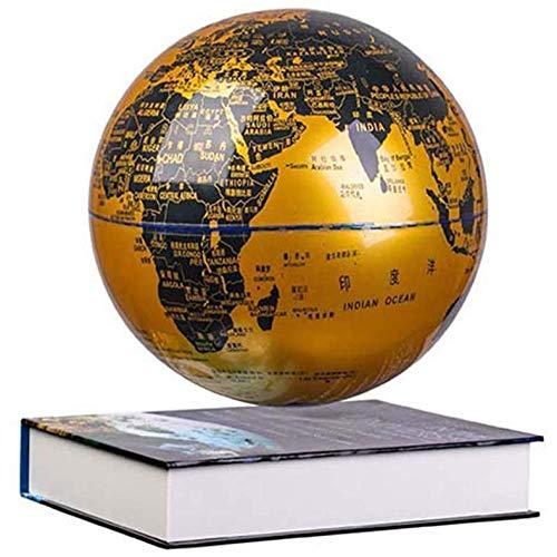 CHOUE 8 Zoll Schwebende Erdkugel mit LED-Farblichtern,Gold Globus Design für das Lernen Bildung Lehren