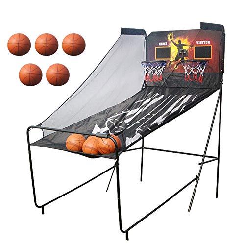 WENZHE Redes Aros Canasta De Baloncesto Tableros Portátiles de Baloncesto Doble Electrónico Tanteo Máquina De Tiro, Estilo A/B (Color : A)