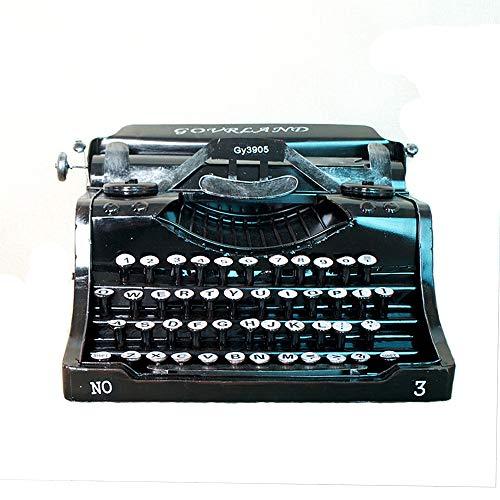 Hjj Caja de música de máquina de Escribir Retro Vintage, Adornos de artesanía de decoración Antigua para el hogar, Modelo de Accesorios, decoración de Barra Hecha a Mano