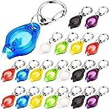 Blulu Mini Linterna LED de Llavero Utra Brillante con Gancho, Baterías Incluidas (7 Colores -21 Piezas)