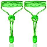 High Pulse Lacci intelligenti – Lacci elastici con chiusura rapida per scarpe più sicure durante camminate e jogging (verde fluo)