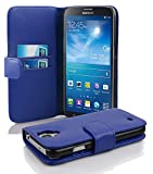 Cadorabo Coque pour Samsung Galaxy Mega 6.3 Bleu CÉLESTE Housse de Protection Etui Portefeuille Cover pour Mega 6.3 – Stand...