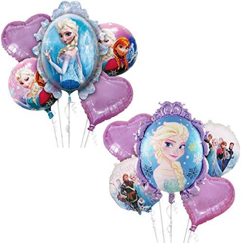 Copo de nieve Decoraciones para fiesta de cumpleaños WENTS 10PCS Frozen Party Decoración de cumpleaños Globos Globo de papel de aluminio Globo de aire Decoración de cumpleaños para niños
