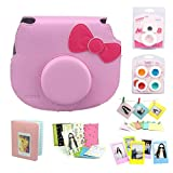 CAIUL 7 in 1 Hello kitty Camera Accessories Bundle(Pink Hello Kitty Case/ Mini Album/ Close-Up Selfie Lens/ 4 Colors Close-Up Lens/ Wall Hang Frames/ Film Frame/ Film Stickers)