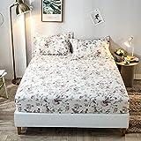 XGguo Protector de colchón Acolchado - Microfibra - Transpirable - Funda para colchon estira hasta Sábana Estampada algodón-35_150 * 200 + 25cm