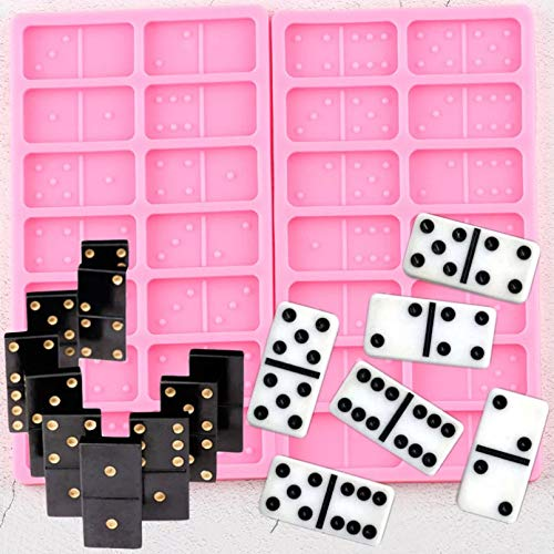 SUNSK Domino SilikonformenKuchen Dekorationswerkzeuge Keks Backen Candy Clay Schokolade GumpasteHarzEpoxidformen