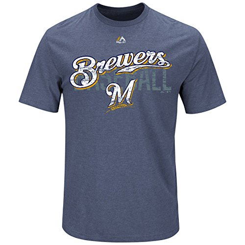 Majestic MLB Baseball T-Shirt Milwaukee Brewers All-in-The-Game in S (SMALL)