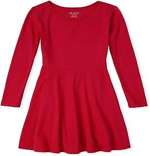فستان ذا كيدز بليس للفتيات بأكمام طويلة بثنيات