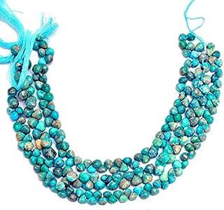 Cuentas de briolette lisas de cebolla de piedras preciosas turquesas | Filamento de 8 pulgadas | Cuentas de piedras precio...