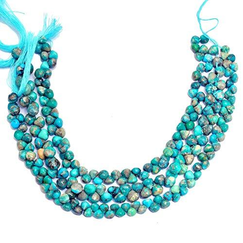 Cuentas de briolette lisas de cebolla de piedras preciosas turquesas
