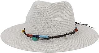 Sun Hat for men and women Summer Women Premium Hat Fedora Hat Panama Sun Hat Rope Floppy Wide Brim Travel Beach Holiday Sombrero Hat