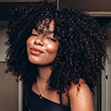U Part Human Hair Wigs for Black Women MSGEM Afro Kinky Curly Hair Machine Made Wigs Brazilian Remy Hair U Shaped None Lace Front Wig Glueless Human Hair Half Wig 20 inch 150% Density
