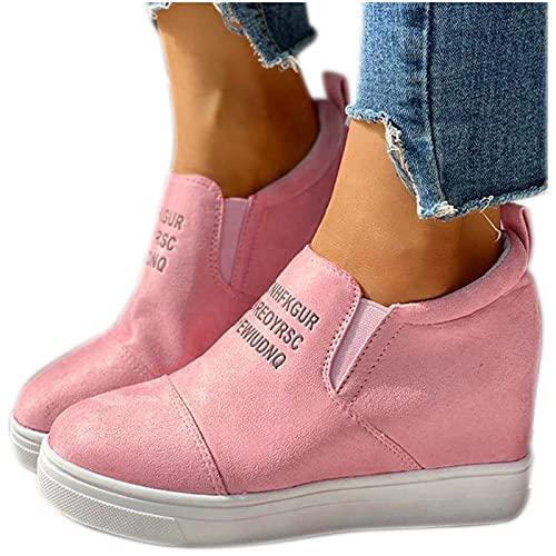 Dasongff Zapatillas de deporte para mujer, con cuña, transpirables, ligeras, para el tiempo libre, para correr, caminar, antideslizantes, para exteriores, fitness, gimnasio, etc.