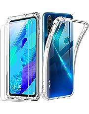 Reshias Funda para Huawei Nova 5T con [2 Pack] Cristal Templado Protector de Pantalla,Suave TPU Transparente Gel Silicona Anti-caída Protectora Carcasa para Huawei Nova 5T / Honor 20 (6.26 Pulgadas)