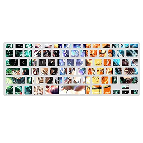Japanese Anime Heros MacBook Air 13 inch Dust-Proof Keyboard Cover Silicone Protector 【Compatible with Mackbook Air 13/Mackbook New Pro 13】