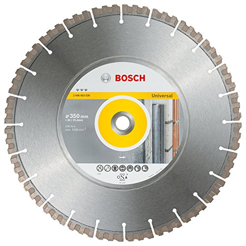 BOSCH Diamanttrennscheibe Best für Universal, 350 x 20/25,40 x 3,3 x 15 mm, 2608603636