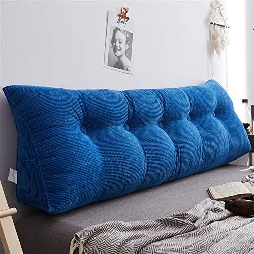 Hoofdeinde Kussen, driehoekig kussen kussen grote zachte Reading Pillow Soft gestoffeerd ligbed Slaapbank Office Chair Wedge Kussen Kussen,H,150×50cm(59×20