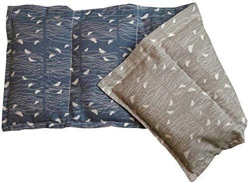 Körnerkissen Natur Kühlkissen Wärmekissen Wendekissen Dinkelkissen 100% Baumwolle Westfalenstoffe Vögel blue sand Premium Kissen 50x20cm