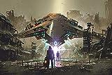 DesFoli Raumschiff Ufo Cyber Poster Kunstdruck Fotoposter