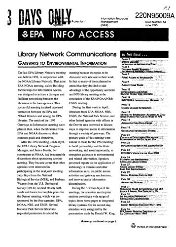 EPA Info Access Library Network Communitcations Issue Number 54 June 1995 (English Edition)