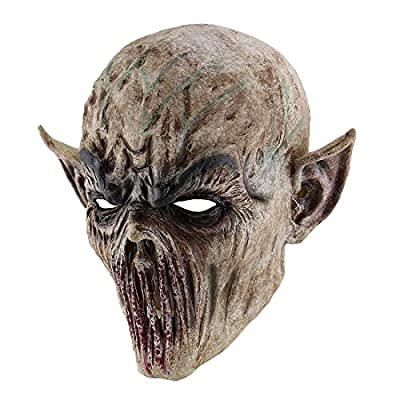 Hophen Scary Halloween Mask Terror Ghost Devil Mask Dance Party Scary Biochemical Alien Zombie Caps Mask from