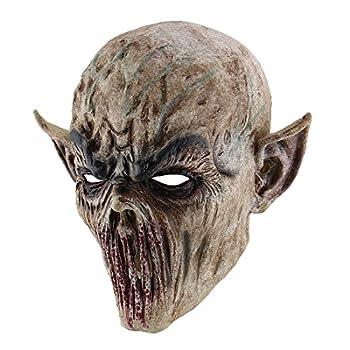 Hophen Scary Halloween Mask Terror Ghost Devil Mask Dance Party Scary Biochemical Alien Zombie Caps Mask