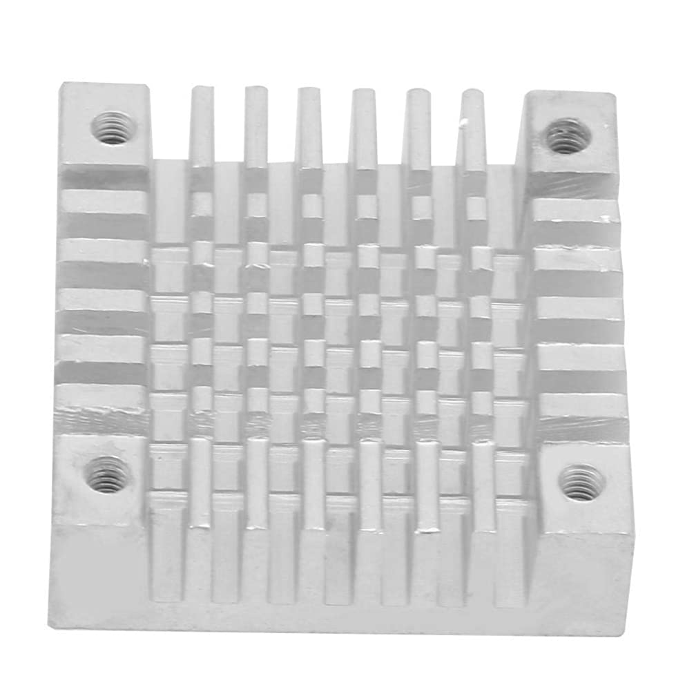 Aluminum Heatsink Cooling Fin 30×8×30mm Four Holes Circuit Board Cooling Fin HeatSink Cooler Chip Heat Sink for CPU Electronic Chip Router(White)