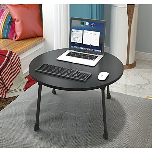 Bao Xing Bei Firm Bureau d'ordinateur Lits pour Tables paresseuses Bureaux d'étudiants Dortoirs Bureaux d'ordinateur pliants Conception Circulaire (Color : Black)