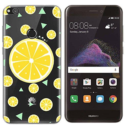 SpiritSun Funda Huawei P8 Lite 2017, Carcasa Transparente Silicona Case Gel TPU Protectora Caso Flexible Cubierta Trasero Slim Bumper Tapa Fundas para Huawei P8 Lite 2017 Suave Estuche Caja, Limón