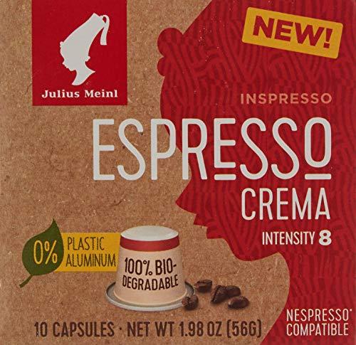 Julius Meinl Inspresso Espresso Crema 8, Nespresso-kompatibel, kompostierbar, 10 Kaffeekapseln, 10,00 Portion Stueck,