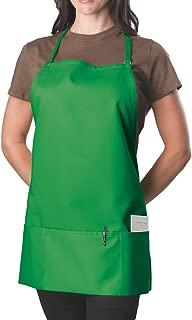 Kelly Green Adjustable Bib Apron - 3 Pocket