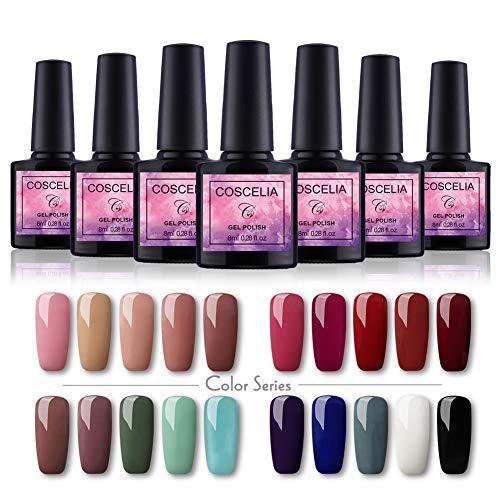 Saint-Acior UV Gellack uv lacken Set 20 Farben Gelnägel Nagellacks Set Nail Gel Polish UV Farben Set(20x8ml)