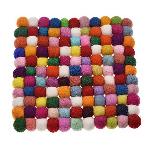 Kesheng Filz Untersetzer Rund Quadrat Farbig für Topf Tasse Glas Getränk Dekoration