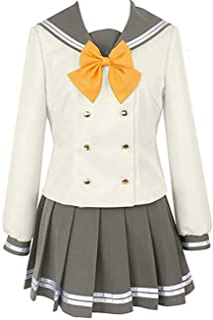 Poetic Walk LoveLive!Sunshine!! Aqours Cosplay Yoshiko Tsushima School Uniform Dress Costume Custom