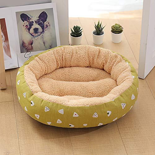 Stella Fella Beige/Amarillo Moda Mascota Suministros Caseta Gato Arena Pequeño Perro Mediano 50 * 50 * 14 cm Mascota Perro Mat