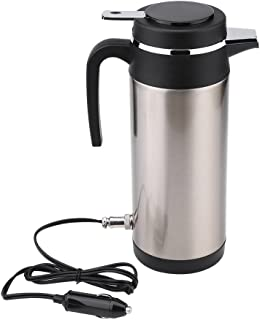 1200Ml Stainless Steel Electric Car Kettle 12V Cigarette Lighter Car Kettle Thermos Water Boiler Heating Drinking Cup Mug Bottle Travel Camping for Tea Coffee Milk