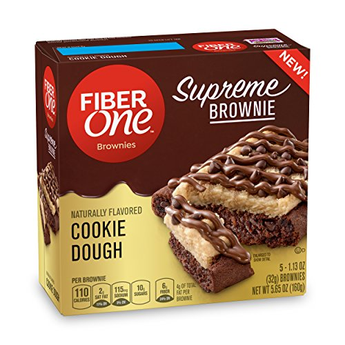 Fiber One Supreme Brownie Cookie Dough Brownies 5-1.13 oz. (Pack of 8)