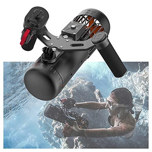 Scooter subacuático para adultos 2021 scooter de agua inalámbrico 40 m impermeable 3 niveles de velocidad recargable soporte de cámara eléctrica scooter mar para buceo, fotografía, deportes