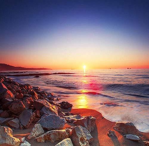 Beautiful Sunset Beach Romantico Paesaggio Murale Carta da parati 3D Soggiorno Divano TV Decorazione domestica Carta da parati fotomurali poster murale Soggiorno camera letto-400cm×280cm