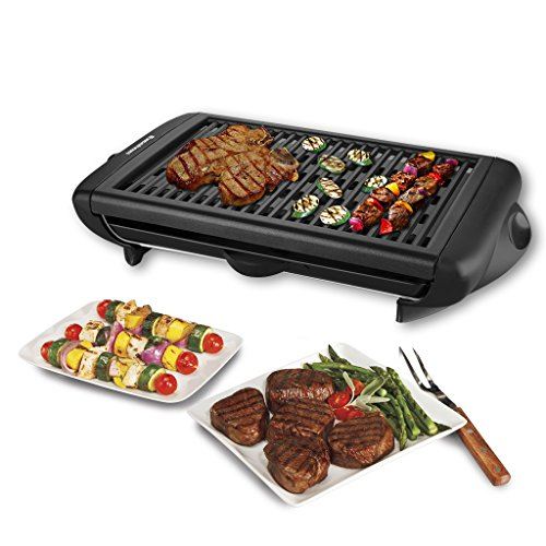 %38 OFF! Electric Indoor Grill Portable Smokeless Kitchen Non Stick Cooking BBQ Griddle
