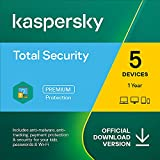 Kaspersky Total Security 2021 | 5 Devices | 1 Year | PC/Mac/Android | Online Code
