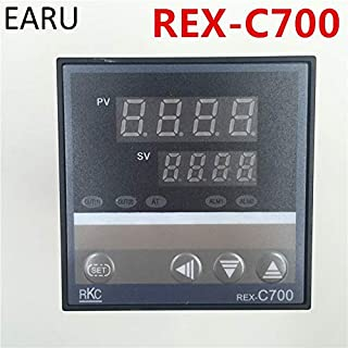 MOJITO LIVING PTE AC 220V Oven Temperature Controller RKC REX-C700 C700 Thermocouple PT100,K Universal Input Relay Output 7272mm Thermostat