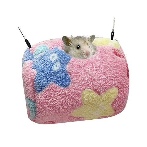 Souarts Hängebett Haustier Hamster zubehör Kleintiere Hängematte Hamster käfig Schlafnest Bettkäfige Spielzeug Nest für Chinchilla Frettchen Eichhörnchen