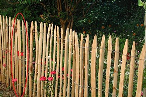Gartenwelt Riegelsberger 10 Stück, Stakete französische Kastanie gespalten, 120 cm