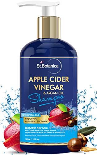StBotanica Apple Cider Vinegar with Organic Argan Oil Hair Shampoo + Argan Hair Conditioner, (2 x 10 fl.oz / 300ml) - Increase Gloss, Hydration, Shine - No Sulfates, Parabens or Silicones