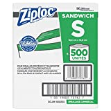 SC Johnson Professional ZIPLOC Sandwich Bags, Easy Open Tabs, 500 Count
